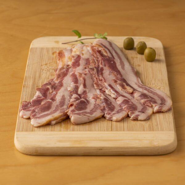 Bacon fumé au bois – sanglier